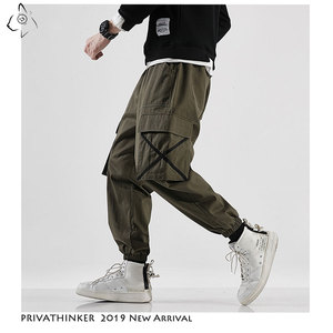 Image 1 - Privathinker Men Casual Army Green Cotton Cargo Pants Mens 2020 Autumn Street Style Joggers Male Hip Hop Pockets Oversize Pants