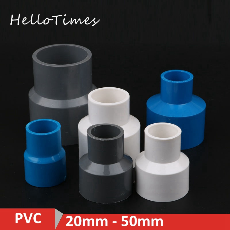 2pcs 20 25 32 40 50mm PVC Straight Reducing Connectors Water Pipe Adapters Fish Tank Tube Joint Garden Irrigation Fittings