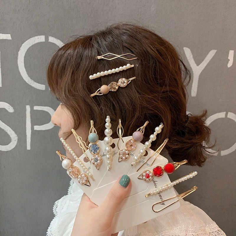 3PCS//Set Women Acrylic Hair Clips Hair Pins Geometric Barrettes Ladies Headware