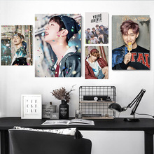 Kpop Bangtan Boys Posters and Prints Korean KPOP Around Decorative Painting Picture Wall Stickers Home Decoration