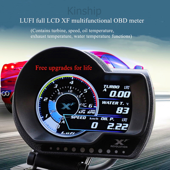 Turbo boost oil pressure temperature gauge for car Afr RPM Fuel Speed Oil Meter LUFI XF OBD2 Plug digital Rifit General models image