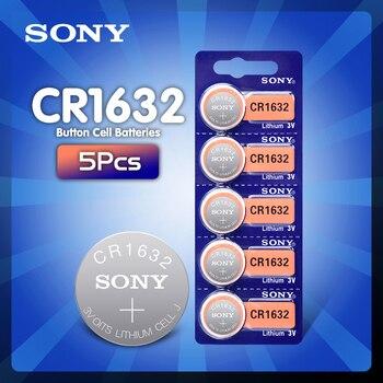 5 шт./лот Sony оригинальный CR1632 кнопочный Аккумулятор для часов автомобильный пульт дистанционного управления cr 1632 ECR1632 GPCR1632 3v литиевая батарея