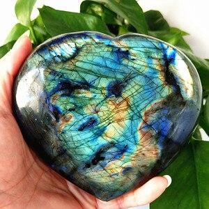 Image 5 - Gran tamaño, piedra policristalina Natural para labrador, cristales curativos, piedra lunar de cristal, chakras y reiki, corazón de meditación
