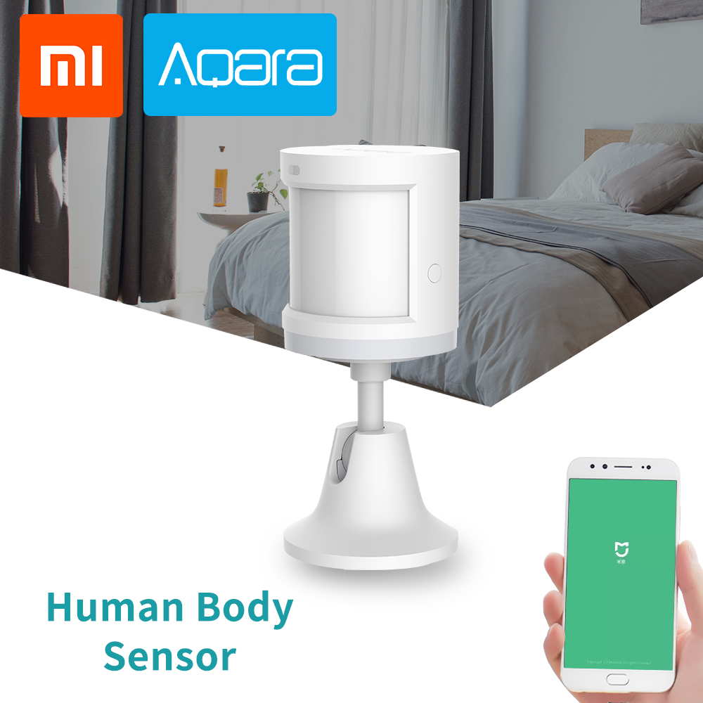 Xiaomi Mijia Aqara Human Body Sensor Smart Body PIR Motion Sensor  ZigBee MiHome APP Connection Security Alarm System Wireles
