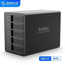 オリコ 95 シリーズ 3.5 5 ベイ USB3.0 hdd ドッキングステーションのサポート 80 テラバイトアルミ hdd と 150 ワット内部電源 adaper