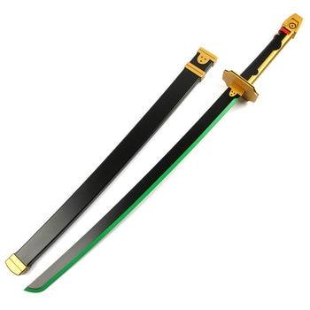 [Funny] 115cm Cosplay Seraph of The End Yuichiro Hyakuya Sword Weapon Katana Black Demon Asuramaru Wooden Sword Costume party