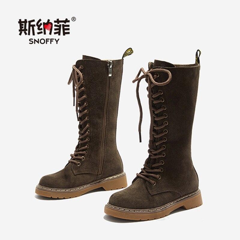 Bottes pour enfants filles chaussures d'hiver chaud en peluche genou haute filles bottes de neige enfants Zip princesse chaussures Martin bottes KS571
