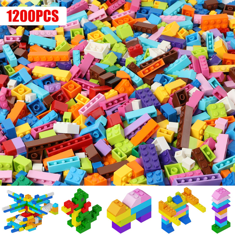 300-1000 Pieces DIY Building Blocks City Creative Bricks Bulk Model Figures Educational Kids Toys Compatible All Brands
