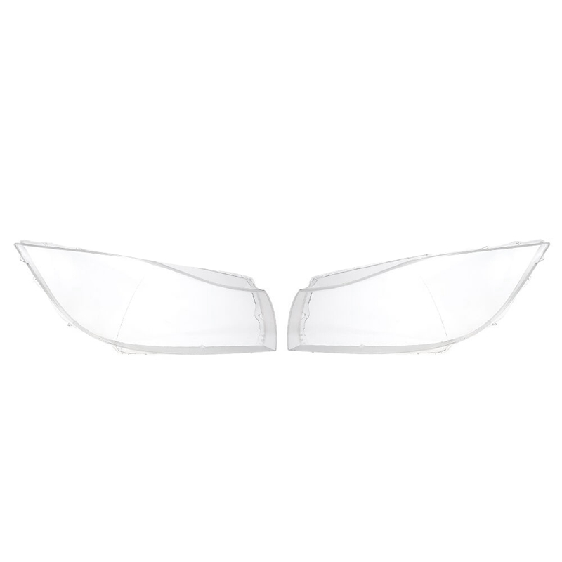 2Pcs Headlight Lens Plastic Cover For Bmw 3 E90 Sedan/E91 2005-2012 Touring Only For Xenon Clear Headlight head light lamp Lens image