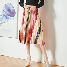 Gradation Skirt Velvet Medium length 2019 New style in autumn and winter Commute Temperament Pleated skirt girls pleated skirt 2018 new autumn and winter new children s big children s pleated half length skirt