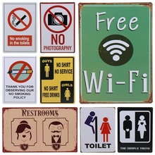 Get more info on the 30X20cm Free WIFI WC Toilet No Smoking Bar Vintage Metal Sign Home Decor Tin Signs Pub Decorative Plates Metal Wall Art H74