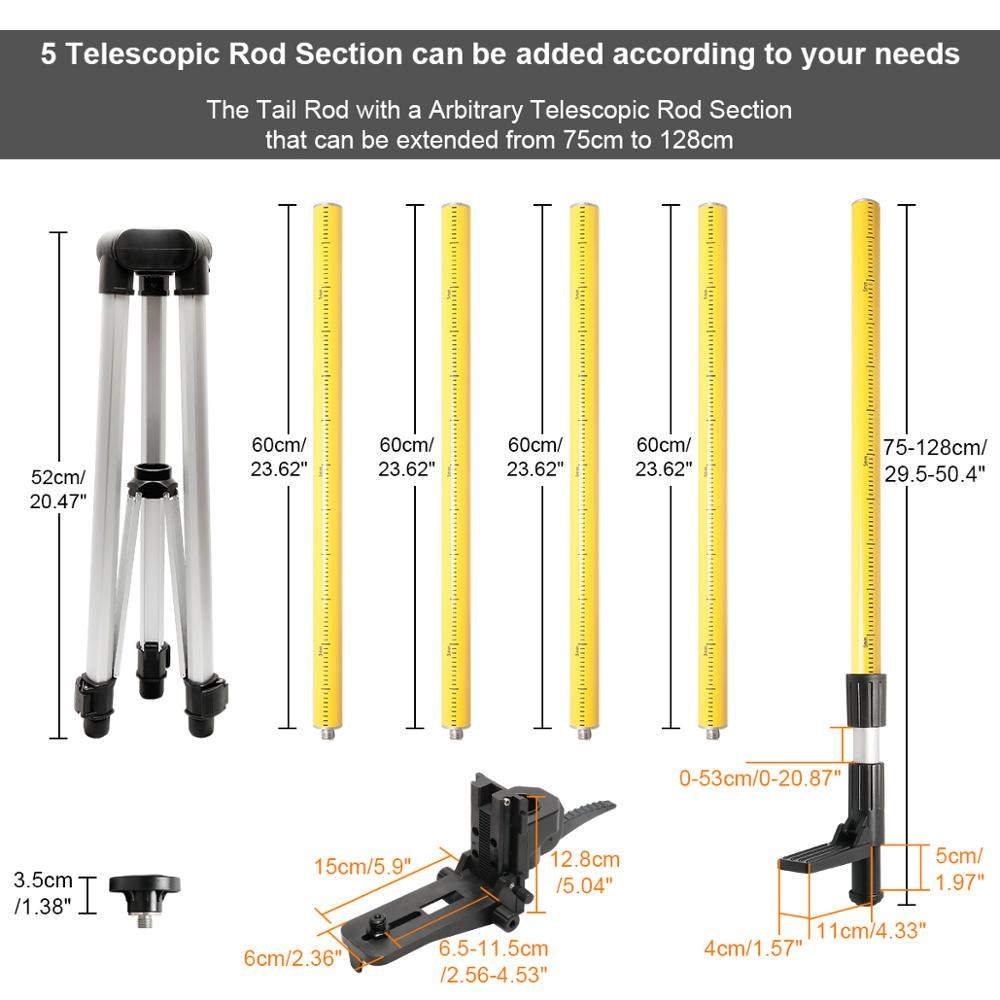 Huepar Remplacement Support Pour Le Tube télescopique lp36-sAdaptateur