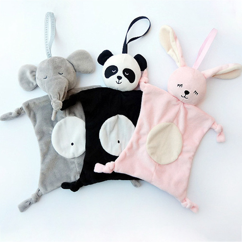Newborn Blankie Soothing Towel Baby Toys Animal Shape Infant Baby Gift Soft Soothe Towel Educational Plush Toys
