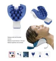Поддержка шеи приспособление для снятия напряжения шеи плеча релаксатор Синий Губка выпускает мышечное напряжение снимает герметичность