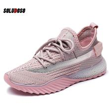 New Mesh Girls Shoes Casual Flat Running Non-slip Breathable Wear Female Fashion Fly Woven Summer Ladies WJ039