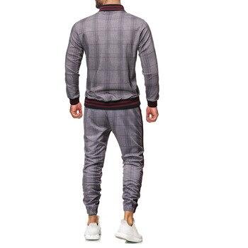 tracksuit men sport suit men sportswear casual two piece   4