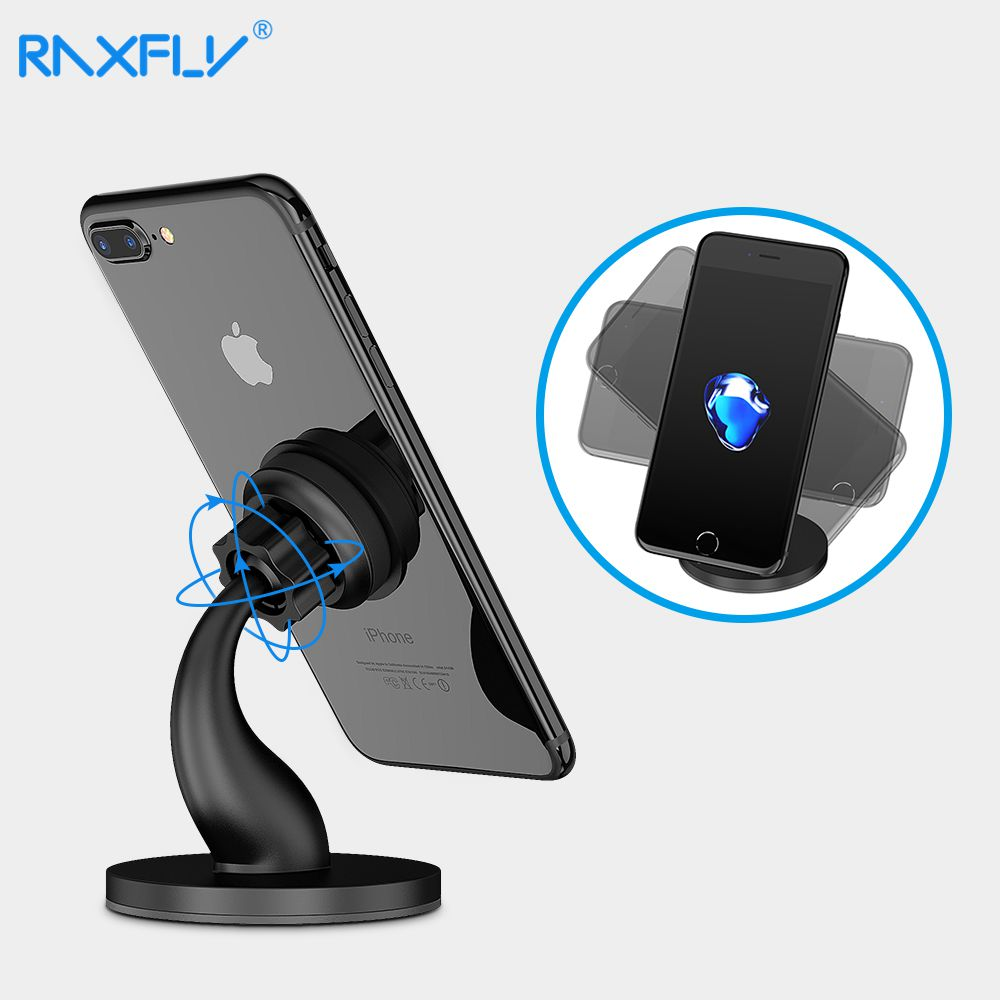 RAXFLY Magnetic Phone Holder Desktop Magnet Holder For IPad Mobile Phone Stand For IPhone Xiaomi Samsung Huawei Univesal Bracket