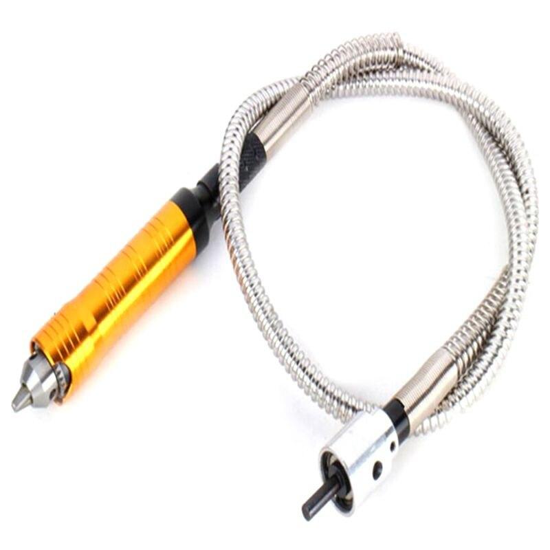 Aletler'ten Elektrikli Alet Aksesuarları'de Döner öğütücü aracı esnek Flex mili + 0.3 6.5mm el aleti Dremel tarzı elektrikli matkap döner aracı aksesuarları