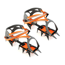 14-point Crampons Manganese Steel Climbing Gear Snow Ice Anti-Skid Shoe Grippers Crampon Traction Device Mountaineering