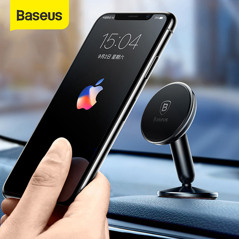 Baseus Universal Car Holder For Mobile Phone Holder Stand In Car Mount Phone Holder For Car 360 Degree Magnetic Car Phone Holder