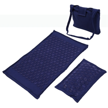 Lotus Spike Acupressure Mat Massage Mat and Pillow Set Yoga Acupuncture Cushion Relieve Back Muscle Pain Massage Mat фото
