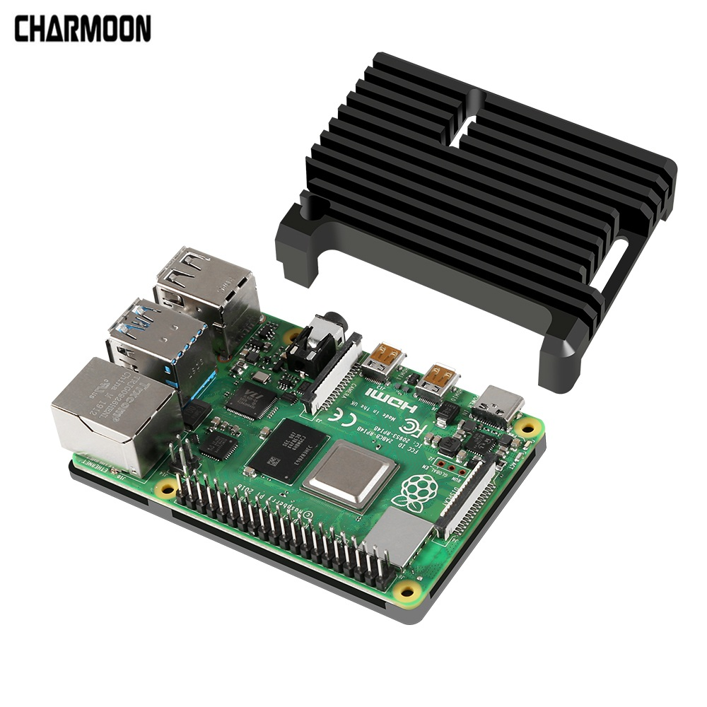 Aluminum Case Alloy Armor With Cooling Heatsink Compatible For Raspberry Pi 4 Model B
