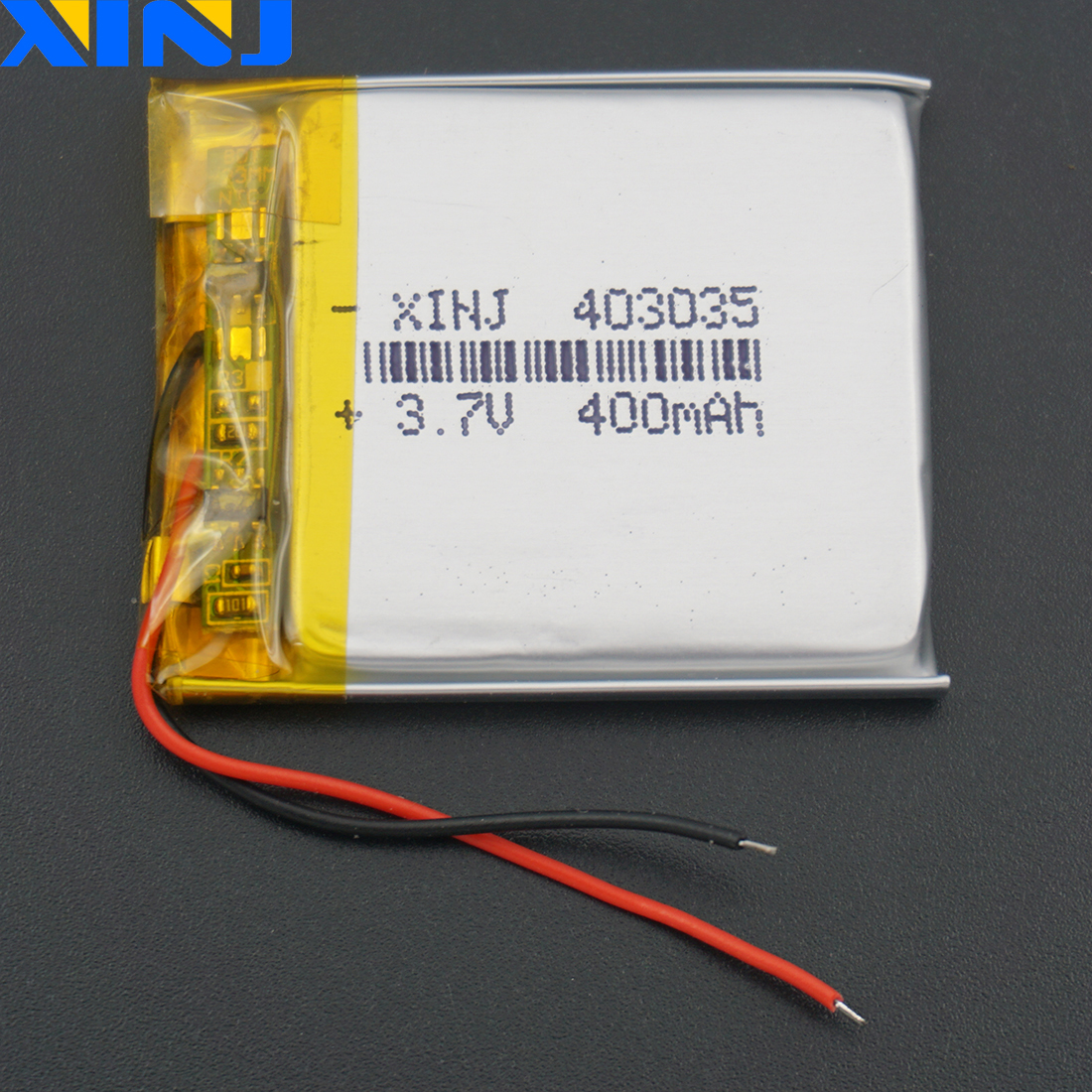 XINJ <font><b>3.7V</b></font> 400mAh li polymer battery li ion cell <font><b>403035</b></font> For GPS E-book smart watch driving recorder Sat Nav Camera bluetooth MP4 image