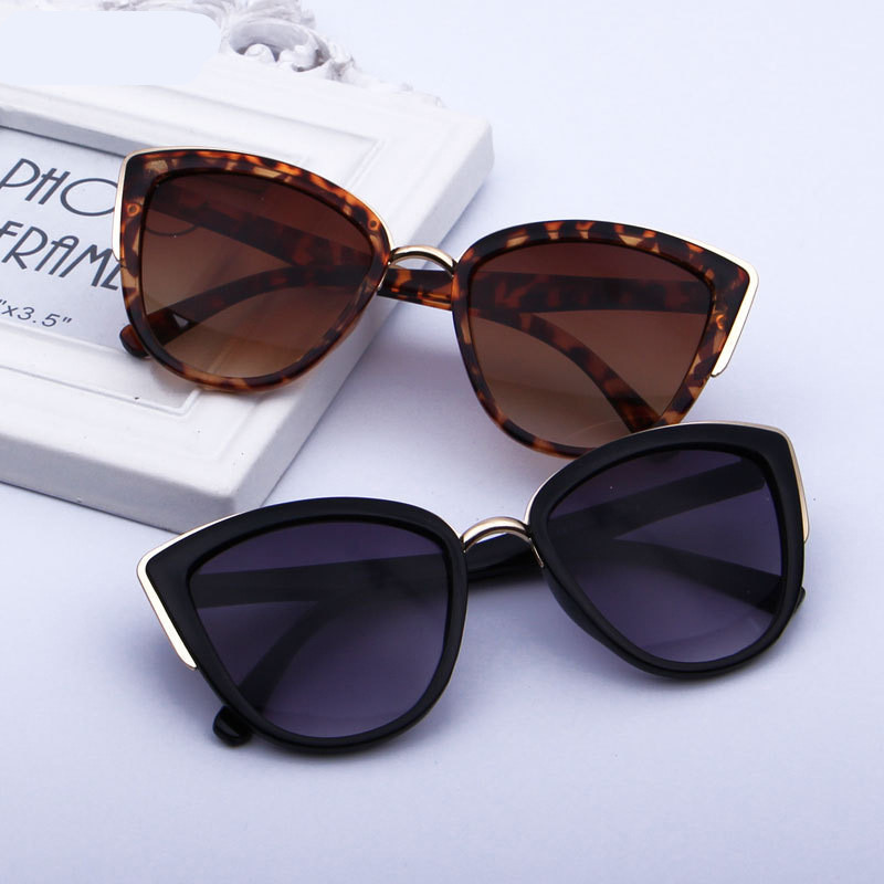 Fahrer Gläser Frauen Cat Eye Retro Designer Runde Gradienten Übergroßen Gläser Sonnenbrille Metallrahmen Sonnenbrille Fahrer Brille