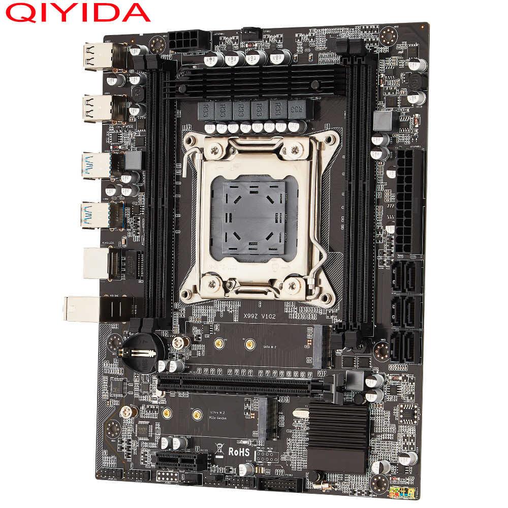 QIYIDA X99 Desktop motherboard LGA 2011-3 LGA2011-3 v3 v4with dual M.2 slot Unterstützung vier kanäle x99motherboard TF F8 DDR4 ECC