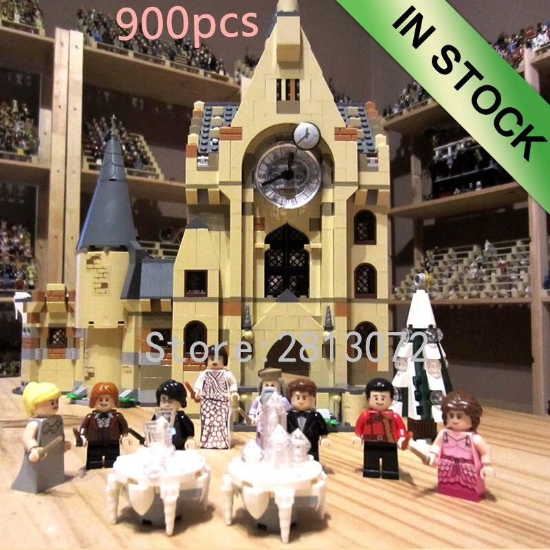 En stock horloge tour château Express bêtes fantastiques blocs film Potter 900 pièces 75948 modèle enfants jouets cadeau