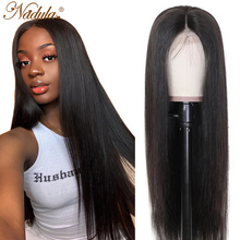 Perruque Lace Front Wig naturelle lisse – Nadula, cheveux humains, pre-plucked, HD, 13x4/13x6, 4x4, 5x5