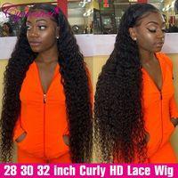 Cynosure 13x 4/13x6 HD Transparent Spitze Front Menschliches Haar Perücken für Schwarze Frauen Remy Brasilianische Verworrene lockiges 4x4 Spitze Schließung Perücke