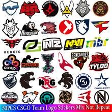 50 PCS Pack CS GO Logo Stickers Set For Boys Luggage Skateboard Laptop Mac Waterproof Game Stickers