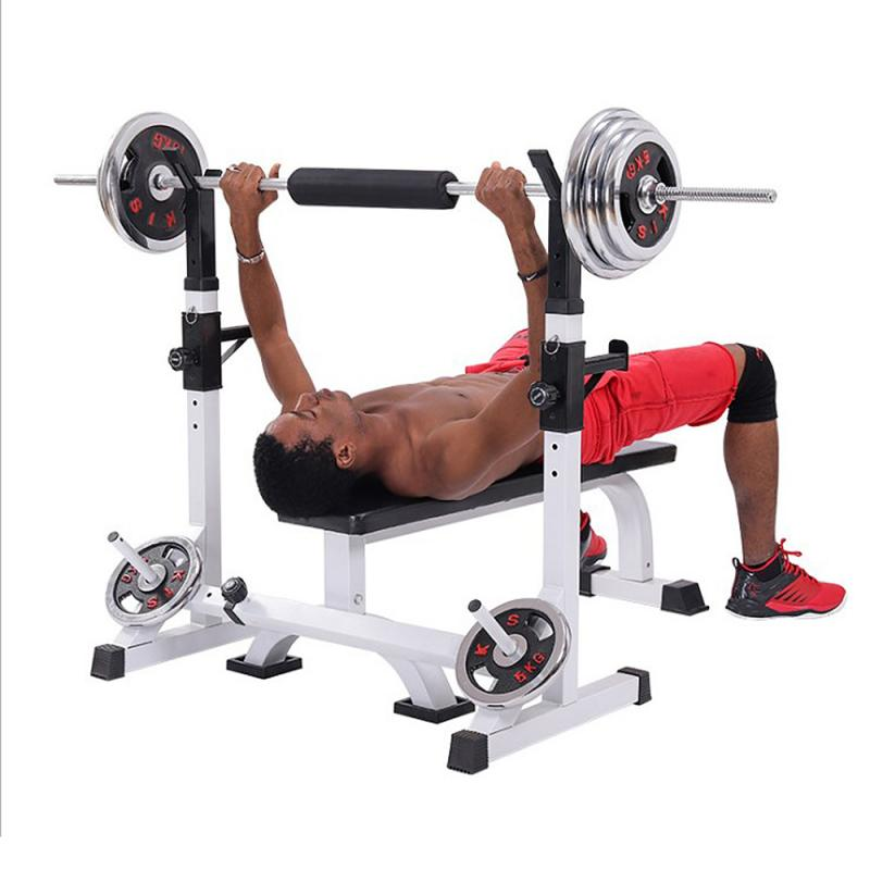 Permalink to OVERSEAS STOCK!!! Barbell Squat Rack Adjustable Barbell Stand Home Gym Weight Lifting Workout Trainer Fitness Equipment HWC