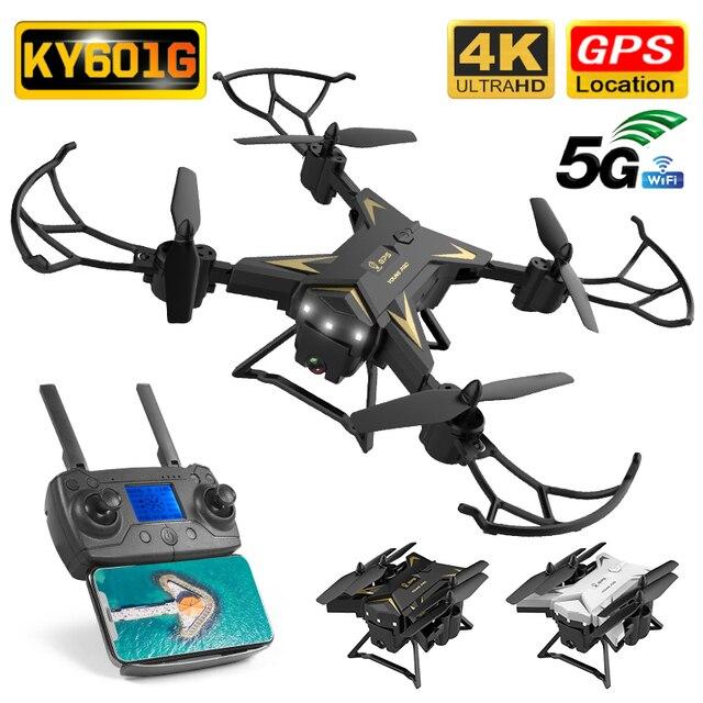 KY601G Drone GPS 4K HD kamera 5G WIFI FPV MV üretim katlanabilir Selfie Drones profesyonel 1800m kontrol mesafe RC dört pervaneli helikopter