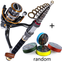 Sougayilang Stick Fishing Rod de Carbon Fiber Fishing Rod for Fish Olta Spinning Telescopic Mini Fishing Rod Set with Reel Pole