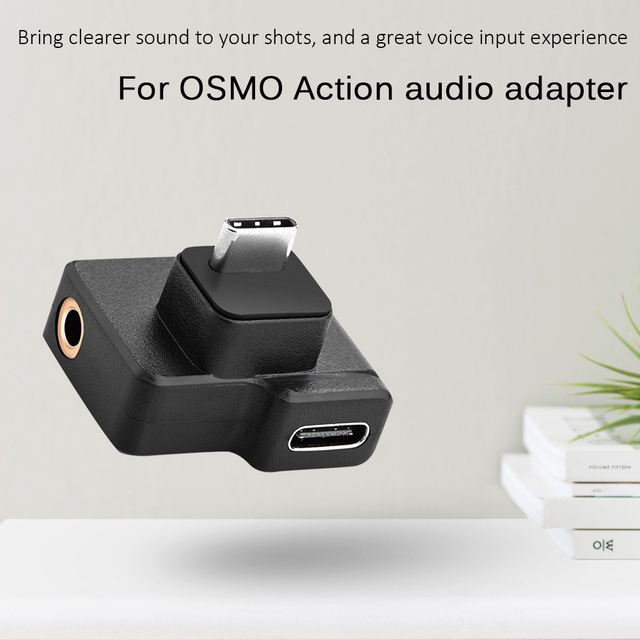 3.5mm Microphone Audio Adapters USB Type C Male to Female Classic Colors Simple Enduring for DJI OSMO ACTION