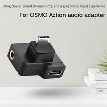 Adaptadores de Audio para micrófono de 3,5mm, USB tipo C, macho a hembra, colores clásicos, sencillos y duraderos para DJI OSMO ACTION