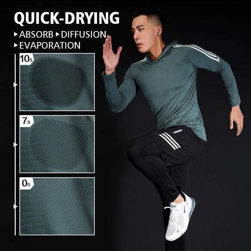 running - Men's Running T-Shirt, Quick-drying Compression Sports T-Shirt, Gym T-Shirt, Soccer Jersey Sportswear Comprehensive Training Top