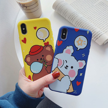 Cute Frosted Animals Cartoon Soft Phone Case For iPhone SE 2020 11 Pro Max X XR XS Max 8 7 6 6s Plus New Fashion Back Cover new iphone case for iphone 11 for iphone11 pro max 5 8 inches 6 1 inches 6 8 inches 6 6s 7 8 plus ix xr max x fashion back cover