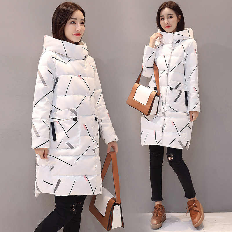 2019 Winter Women's New Thick Coat Hooded Down Cotton Parkas Women Korean Version of The Fashion Warm Loose Cotton Jacket