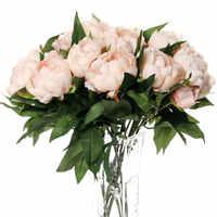 1pc seda artificial peônia flores artificiais toque real peônia decorativo flores artesanais falso barato