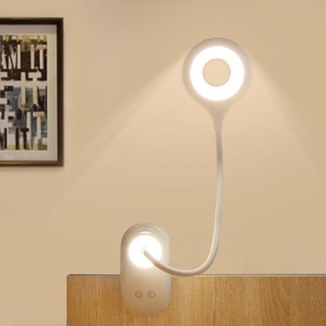 調光可能なタッチセンサー LED テーブルランプ USB 充電式デスクランプ読書ブックライトのための寝室の装飾の夜の光
