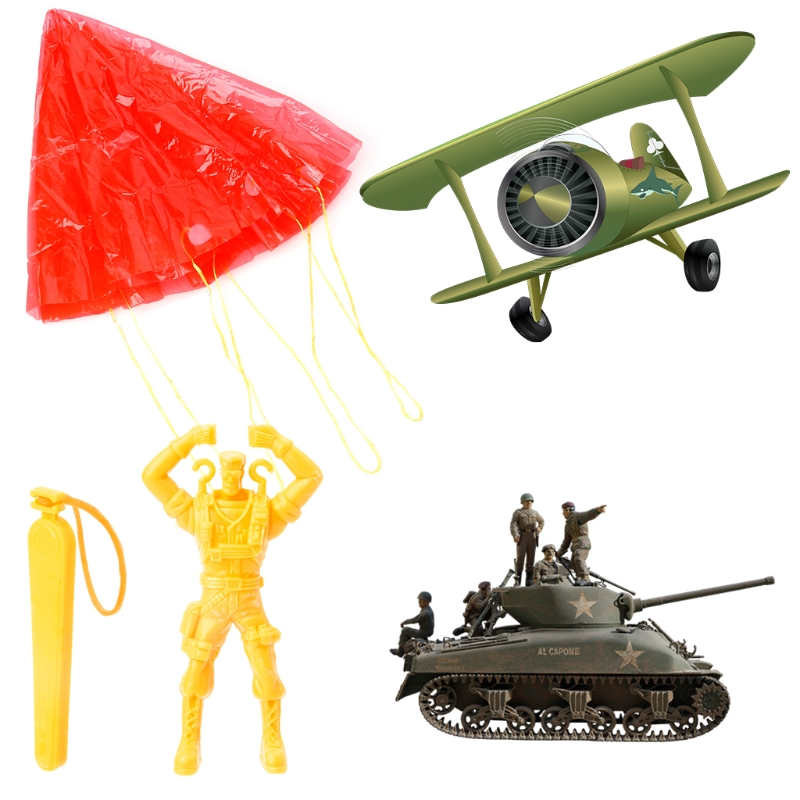 2 Pcs Hand Parachute Kite Surf Toy Throw And Drop Outdoor Fun Sports Kids Toy Y1QF