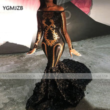 Блестящее платье для выпускного вечера с блестками и русалочкой