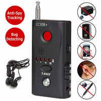 Мини анти-шпионский обнаружитель скрытой камеры CC308 + анти-Candid Espia камера Wifi радиочастотный лазер аудио сигнал об ошибке шпионское устройств...
