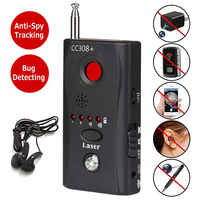 Mini Anti Spy Hidden Camera Detector CC308+ Anti Candid Espia Camera Wifi RF Laser Audio Signal Bug Spy Device GSM Device Finder