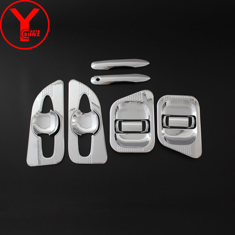 YCSUNZ abs chrome side door handle protector for Toyota Hiace Commuter 2019 accessories exterior parts for Toyota Hiace van 2019