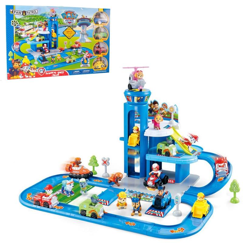 Paw Patrol Toys Set Track training base splice Patrol Car Toys Action Figure Anime Model Toys for Children Birthday Gift
