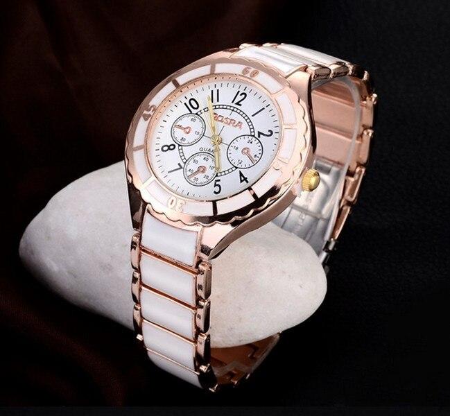 Elegant Relogio Feminino Women Watch Stainless Steel Round Dial Quartz Sport Watches Fashion White Face Luxury Style Clock
